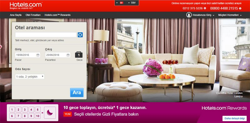 Tüm zamanların en pahalı alan adları: hotelscom
