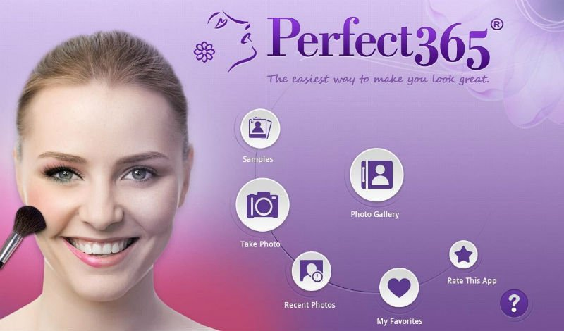 iOS ve Android için üzerinde düzenleme yapabileceğiniz bir selfie uygulaması:perfect365