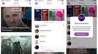 Snapchat uygulama üzerindeki 'Keşfet' bölümünün yeni tasarımını yayınladı