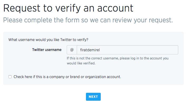 Twitter onaylanmış profil