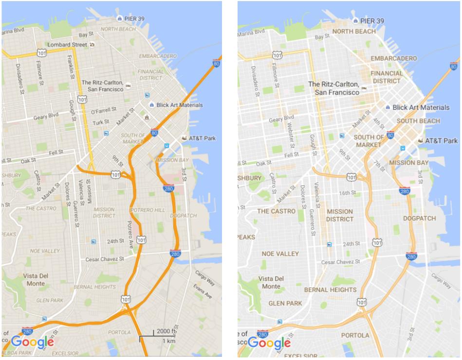 Google Maps'in tasarımı daha da sadeleşiyor ve yeni özellikler geliyor