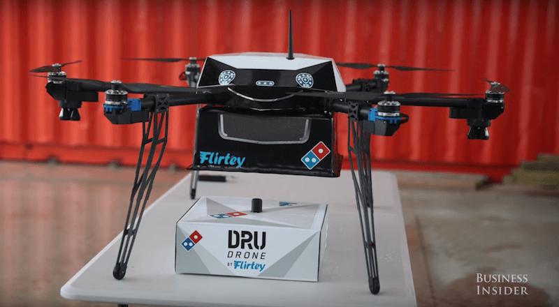 Dominos Pizza, drone deneyi başarılı olursa 6 farklı ülkede havadan pizza dağıtacak