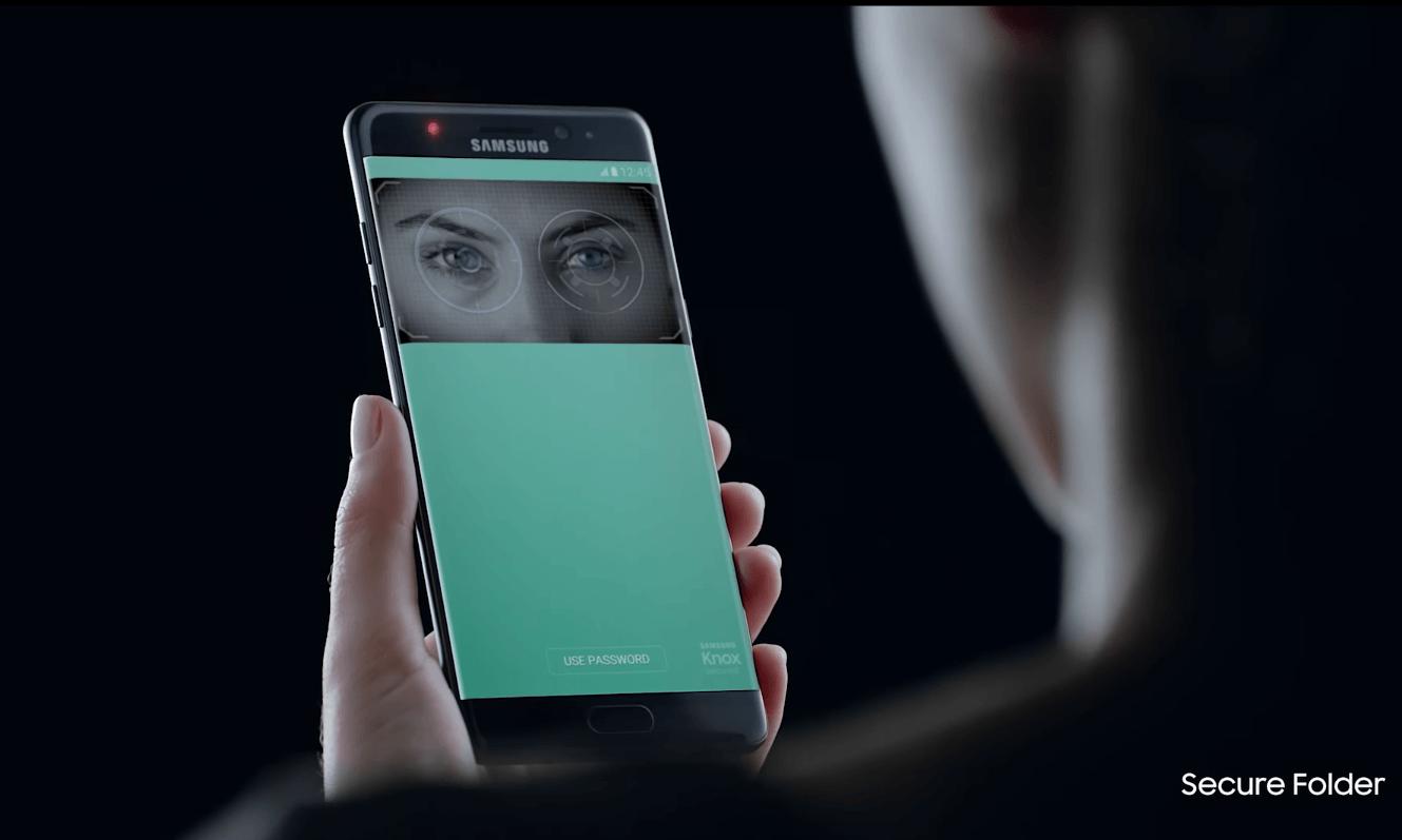 Galaxy Note 7 iris tarama
