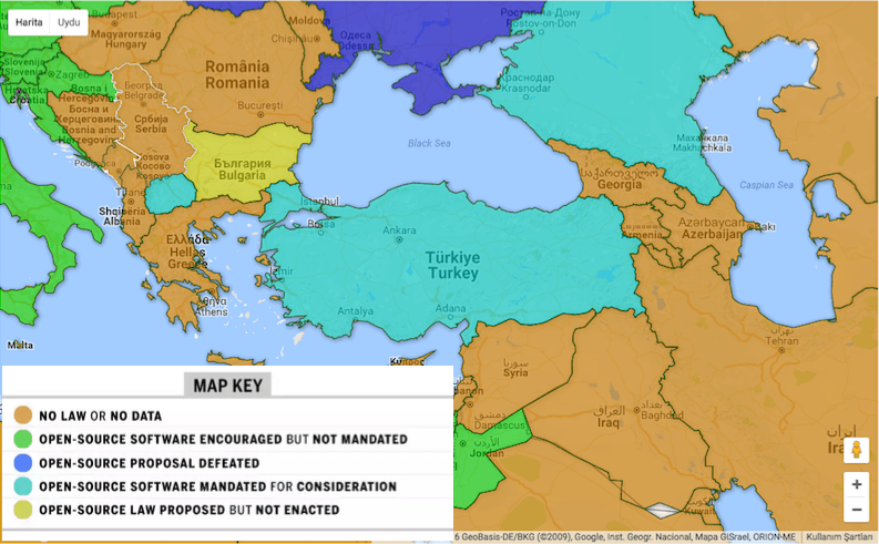 acik kaynak haritasi