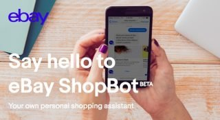 eBay Facebook Messenger için alışveriş botu ShopBot'u tanıttı