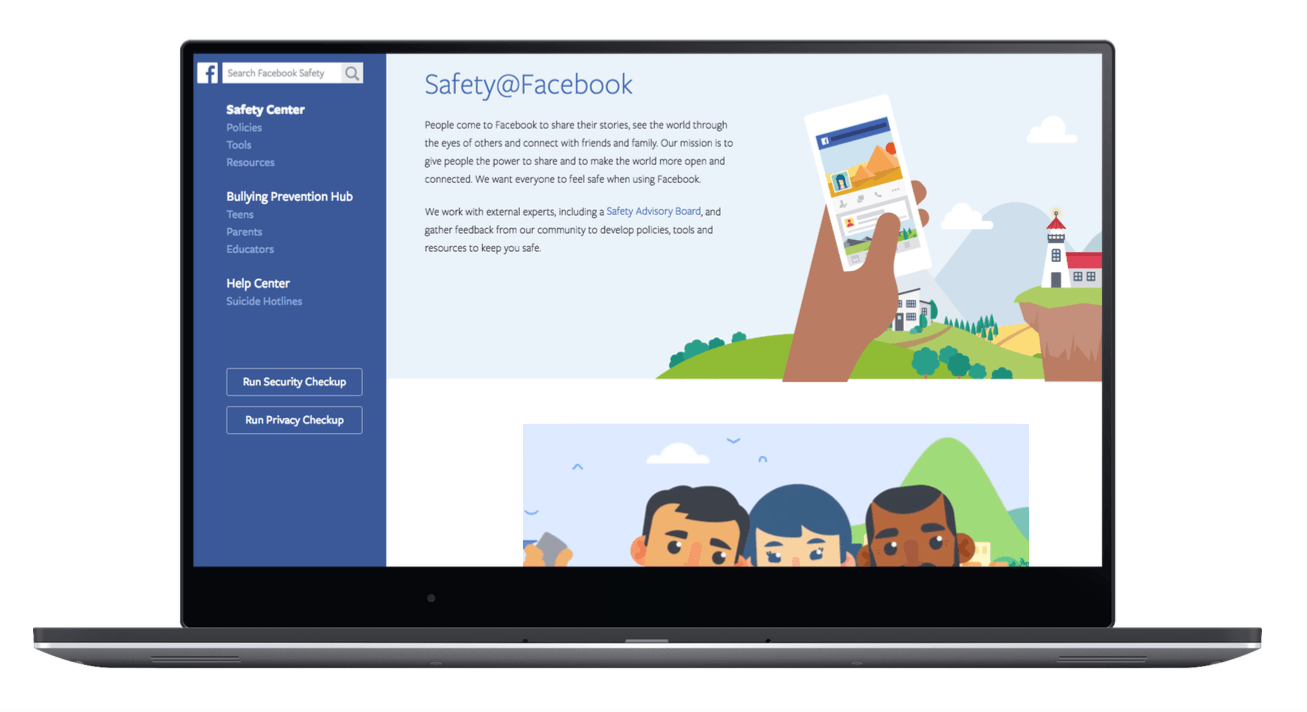 facebook emniyet merkezi