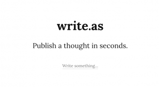 Write.as: Anonim yazarlara kucak açan basit ama yetenekli blog platformu