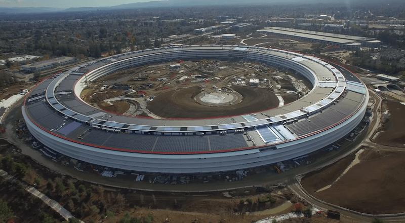 Apple Campus 2'nin havadan çekilen yeni görüntüleri yayınlandı