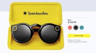Snapchat, Spectacles gözlüklerini 130 dolara internet üzerinden satışa açtı