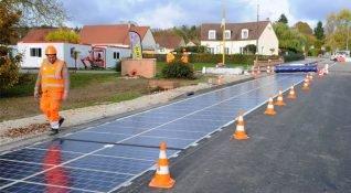 Fransa güneş enerji panelli yolları test etmeye başladı