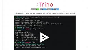 Terminal'de çeviri yapmaya yarayan Trino, geliştiricilere zaman kazandırıyor [Yerli GitHub]