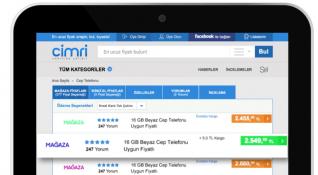 Cimri.com, 430 mağaza ve 4 milyon ürünle mobile öncelikli büyümesini sürdürüyor
