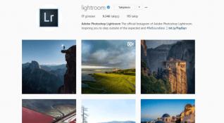 Adobe Lightroom'u artık Instagram'da takip edebilirsiniz