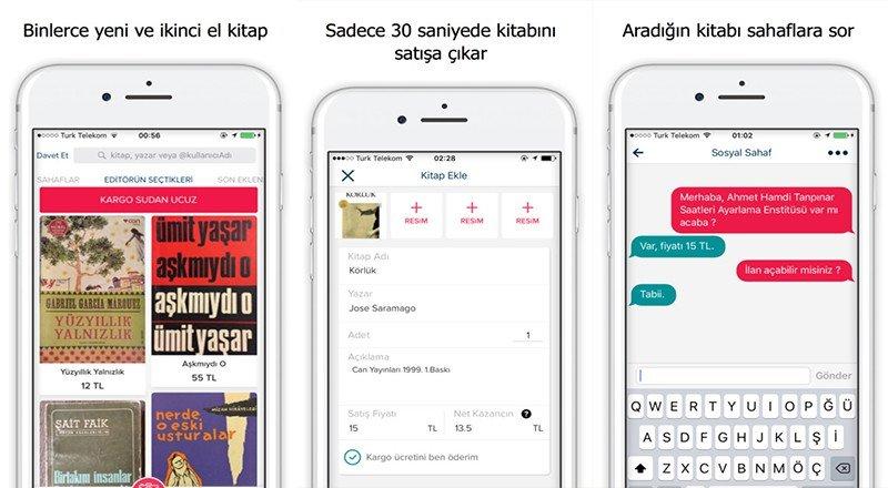 Sahaf Ikinci El Kitapları Alıp Satabileceğiniz Mobil Pazar Yeri