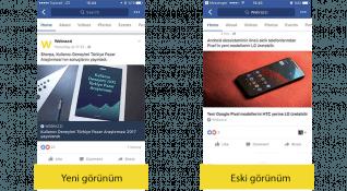 Facebook haber içerikleri için mobilde yeni bir tasarım deniyor