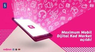 Maximum Mobil yeni özelliği Dijital Kod Market'i açtı