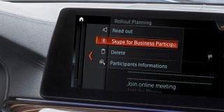 BMW ve Microsoft iş birliği ile 5 serisine Skype for Business uygulaması geldi