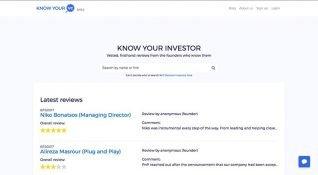 Anonim yatırımcı değerlendirme platformu: Know Your VC