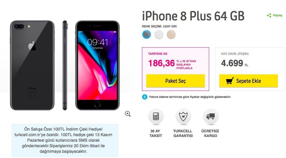Iphone  Plus  Gb Fiyat
