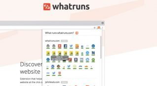 Web sitesinin hangi teknolojiyi kullandığını gösteren eklenti:  WhatRuns