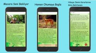 Çocuklar için hikaye tabanlı mobil oyun: Senin Hikayen