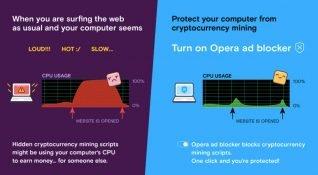 Opera 50, izinsiz kripto para madenciliğini engelleme özelliğiyle geliyor
