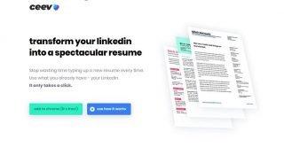 Ceev: Linkedin'deki özgeçmişinizi estetik bir CV'ye dönüştüren uygulama