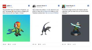 Facebook 3D içeriklerle Artırılmış ve Sanal Gerçekliği haber kaynağına taşıyor