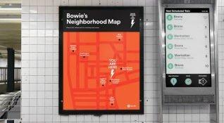 Spotify, New York'ta bir metro istasyonunu David Bowie'nin afişleri ve sözleri ile donattı