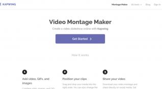 Kapwing'ten çevrimiçi ücretsiz video montaj aracı