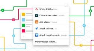 """Slack, gerçek bir iş yeri deneyimi yaratmak için """"Eylemler"""" butonunu aktif hale getiriyor"""