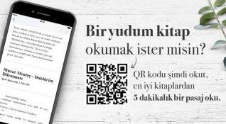Biryudumkitap'ın QR kodlu yeni ürünü ile kahve içerken pasajlar okumak mümkün