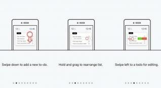 Yapılacaklar listesi için basit tasarımlı iOS uygulaması: Listify