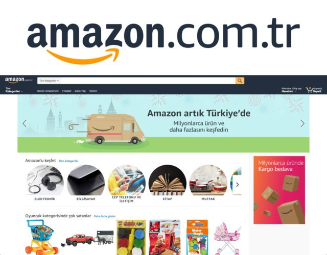 Amazon launches in Turkey