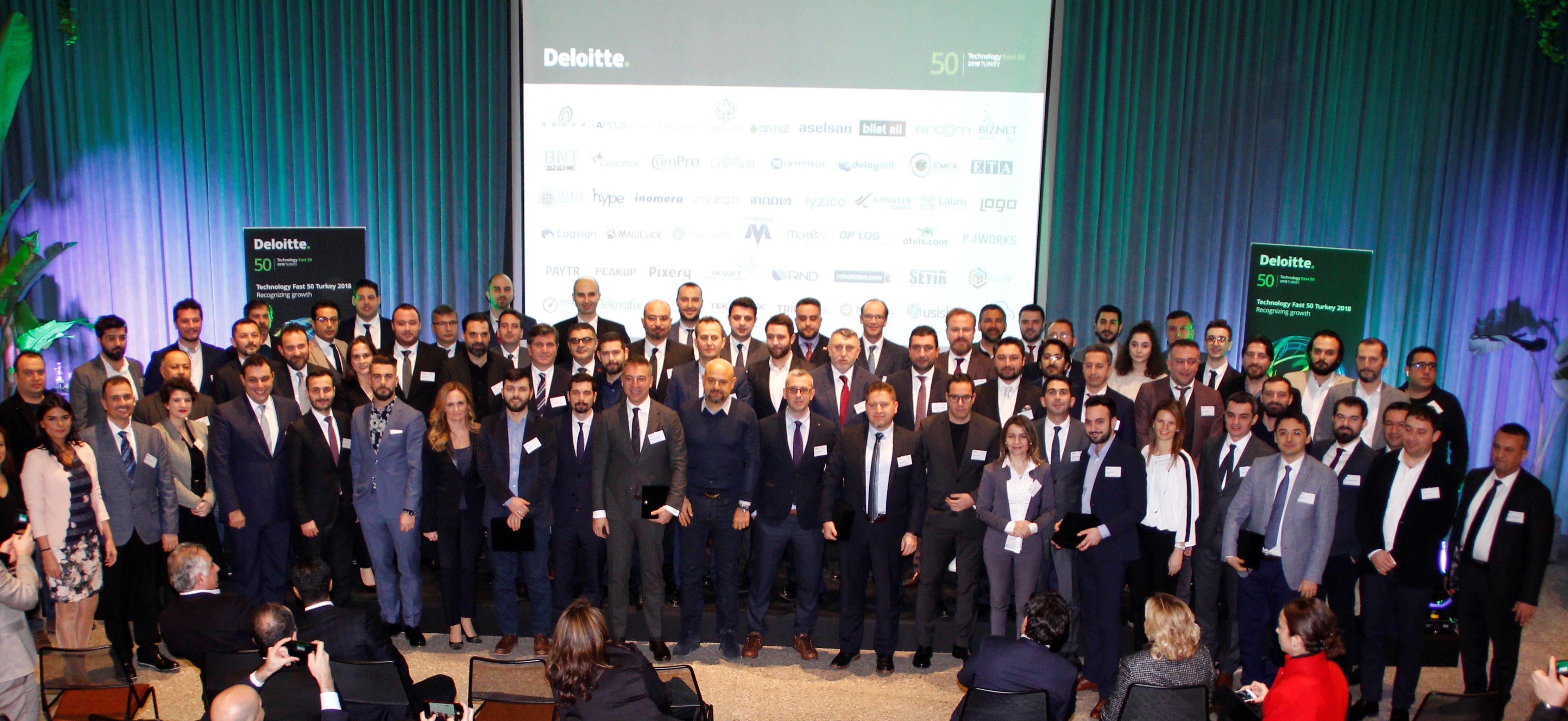 Deloitte, Teknoloji Fast 50 Türkiye 2018'de en hızlı büyüyen teknoloji şirketlerini açıkladı