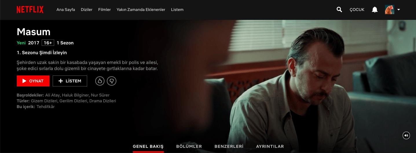 Netflix, BluTV orijinal içeriği Masum'u bünyesine kattı