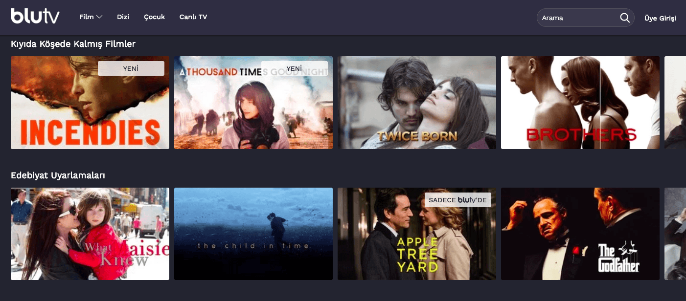 Türkiye'de online film izleyebileceğiniz ücretli ve ücretsiz