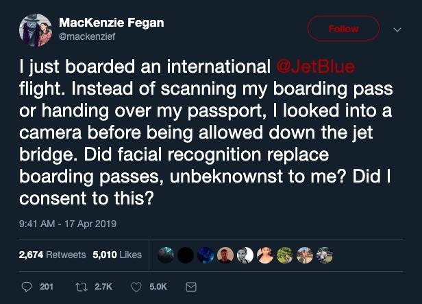 Amerika Birleşik Devletleri uluslararası uçuşlarda yüz tanıma kullanımına başladı  - Webrazzi