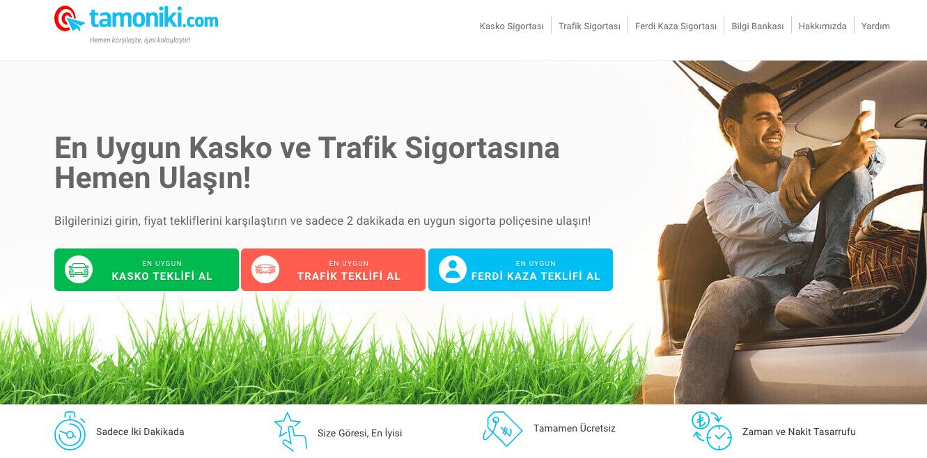 Trafik sigortası ve kasko için fiyat karşılaştırma platformu: Tamoniki.com  - Webrazzi