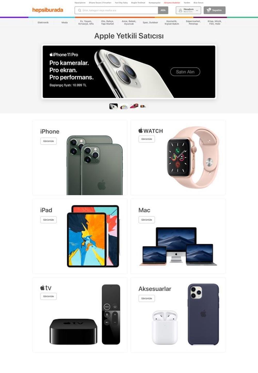apple hepsiburada ile anlaştı ile ilgili görsel sonucu