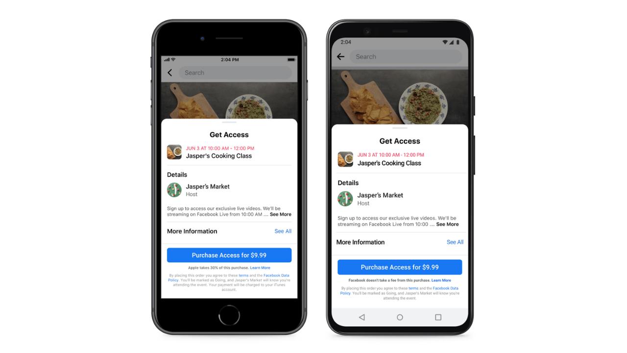 Küçük işletmeler, Facebook'taki online etkinliklerden para kazanabilecek