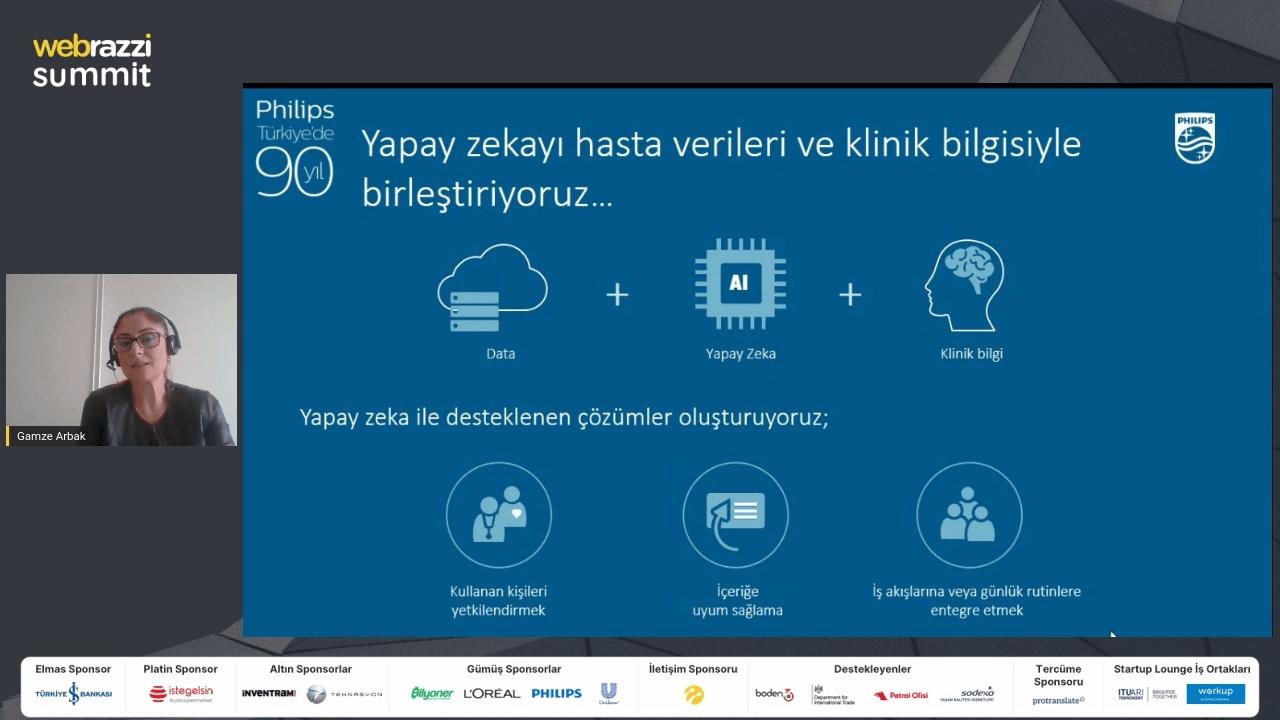 Philips'ten Gamze Arbak, Webrazzi Summit 2020'de sağlıkta dijital dönüşümü anlattı