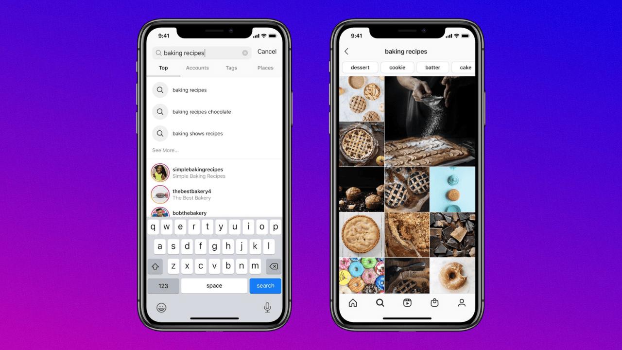 Instagram, ilgi alanlarına yönelik arama özelliklerini geliştiriyor